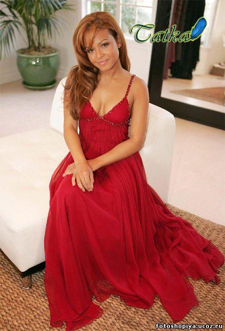 Фото рыжие девочки в красном платье